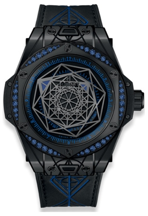 Hublot One Click Big Bang Sang Bleu All Black Blue 39mm