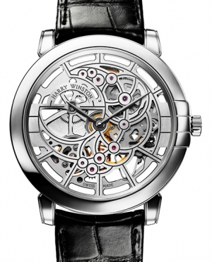 Harry Winston Midnight Skeleton in White Gold