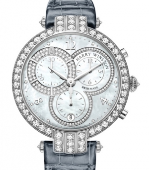 Harry Winston Premier Chronograph Quartz White gold