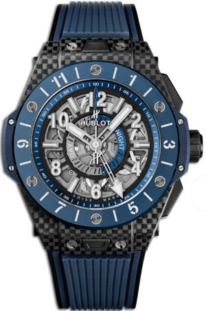 Часы мужские Hublot One Big Bang Unico Gmt Carbon Blue Ceramic