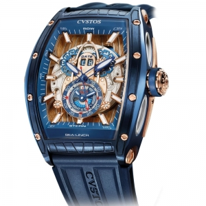 Cvstos Challenge Sea-Liner GMT Blue Steel & Rose Gold Ref.CV15061CHGTSELAB000C5N2