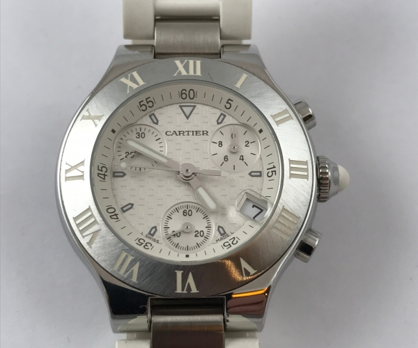Cartier Must 21 Chronograph white Ref.W10184U2