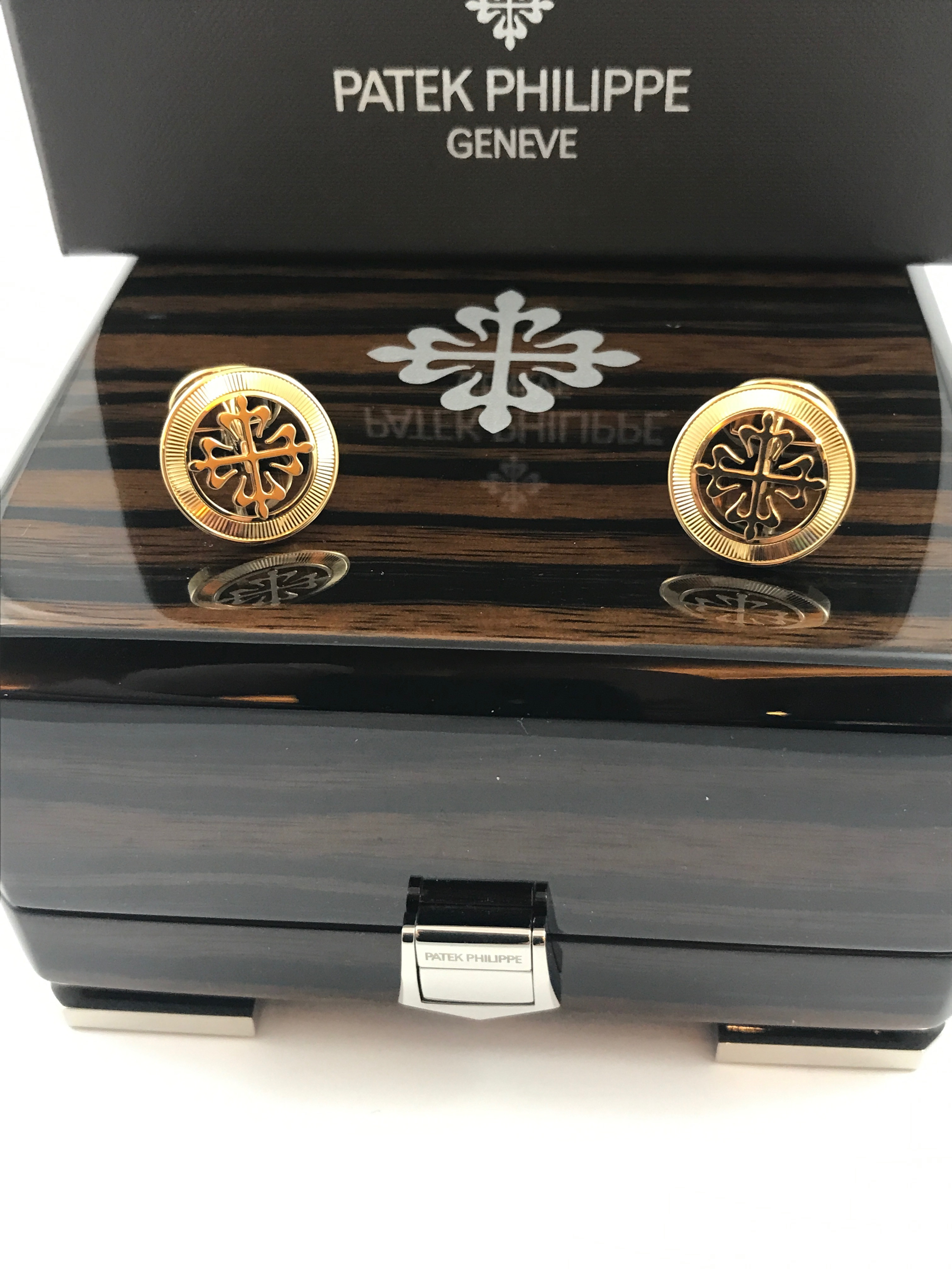 Запонки Patek Philippe Cuff Links Calatrava Cross Ref.205.9089RS