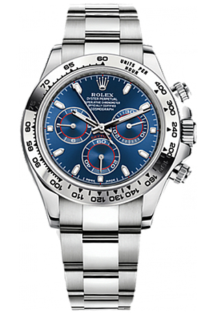 ROLEX DAYTONA WHITE GOLD BLUE DIAL 2016